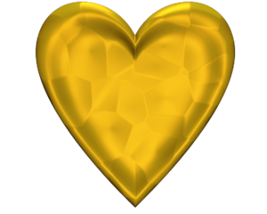Heart D Jeweled Yellow Gold Image