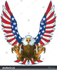 Flying American Flag Clipart Image