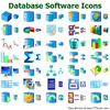 Database Software Icons Image