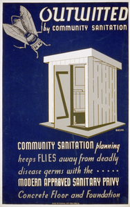 Outwitted By Community Sanitation Community Sanitation Planning Keeps Flies Away From Deadly Disease Germs... / Buczak. Image