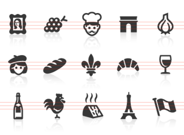 0043 French Culture Icons Free Images At Clker Vector Clip