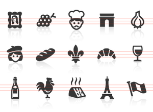 0043 French Culture Icons Image