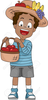 Holiday Food Basket Clipart Image