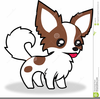Long Haired Chihuahua Clipart Image