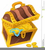 Cartoon Treasure Chest Clipart Image
