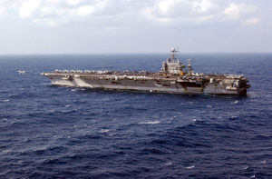 Uss Harry S. Truman (cvn 75) Conducts Flight Operations In Support Of Operation Iraqi Freedom. Image