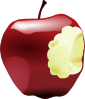Apple Bitten Clip Art
