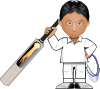 Kobo Cricket Toon Clip Art