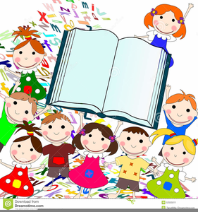 Kids Reading Books Clipart Free Free Images At Clker Com
