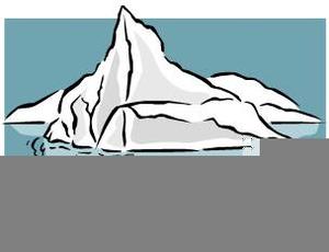 Iceberg clipart black and white free images at for Clipart iceberg