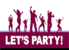 Lets Party Dance Clip Art