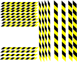 Hazard Stripe Variations Clip Art