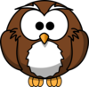 Owl Looking Foward Clip Art