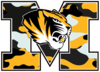 Letter M Tiger In Camoflage Big Image