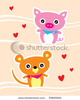 Stock Vector Couple Pig And Rat Image