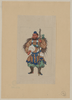 [man Wearing Ceremonial Costume, Carrying A Long Staff (possibly A Small Tree Trunk Sprouting A Branch With Leaves) And A Fan Made Of Feathers; Appears To Have Wings That Terminate In Sharp Points] Image