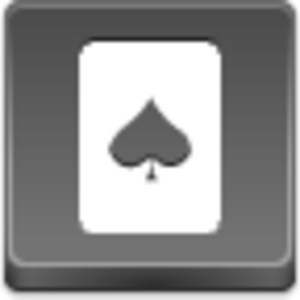 Free Grey Button Icons Spades Card Image