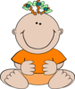 Orange I Cute Clip Art