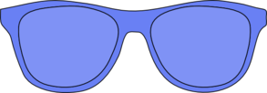 Blue Glasses Clip Art