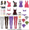 Free Clothes Line Clipart Image