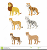 Jungle Cat Animal Clipart Image