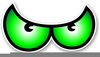 Green Scary Eye Clipart Image