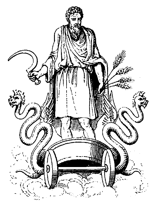 Free Coloring Pages God Saturn