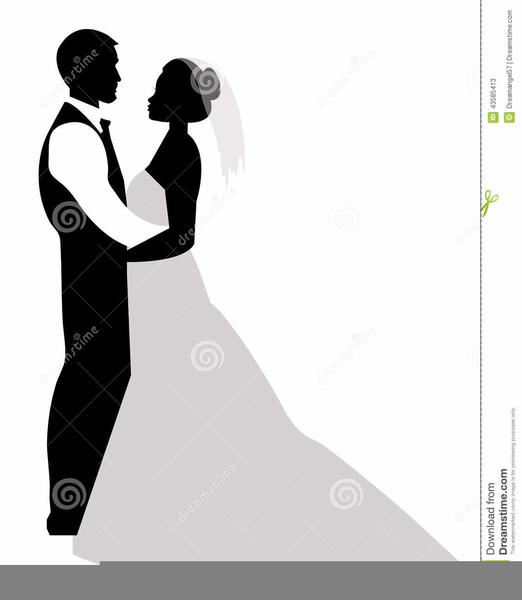My Wedding Invite Clip Art At Clker Com: Free Clipart Bride And Groom Silhouette