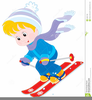 Skiing And Snowboarding Clipart Image
