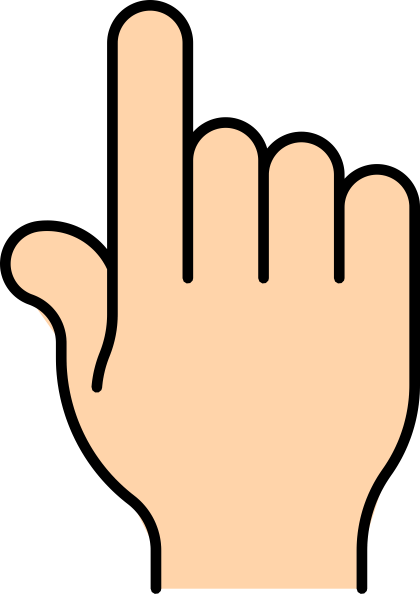 how to draw a finger pointing up