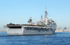 After Leaving Her Berth At Naval Station San Diego, Uss Duluth (lpd 6) Steams Through San Diego Bay On Her Way To Join Elements Of The Uss Tarawa (lha 1) Amphibious Readiness Group (arg) At The Start Of A Scheduled Six-month Deployment. Image
