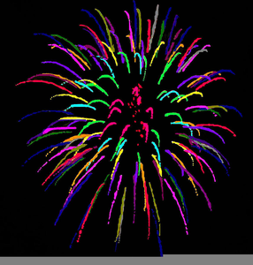 Firework animated. Free clipart animations fireworks