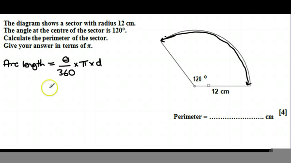 how to find the perimeter of a sector formula