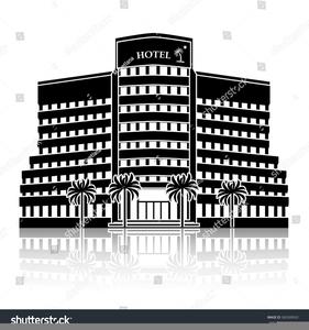 Hotel Clipart Black White Image
