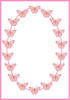 Butterfly And Swirls Clipart Image