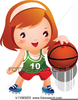 Basketball Bouncing Clipart Image