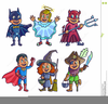 Cute Kids Halloween Clipart Image