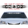 Design Custom Windshield Tribal Flame Vinyl Graphic Decal Sticker Image