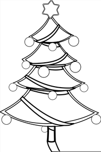 Christmas Present Clipart Black And White Image