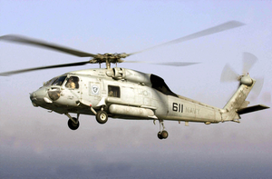 An Sh-60 Seahawk Assigned To The Screaming Indians Of Helicopter Antisubmarine Squadron Six (hs-6 Image