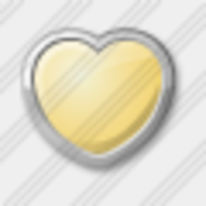 Icon Heart Yellow Image