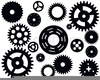 Bicycle Gears Clipart Image