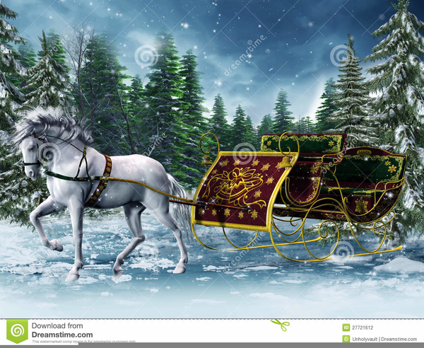 Free Christmas Horse Sleigh Clipart Free Images At Clker Com
