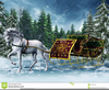 Free Christmas Horse Sleigh Clipart Image