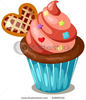 Stock Vector Illustration Of Isolated Cupcake On White Background Image