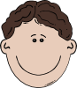 Boy Face Cartoon 3 Clip Art