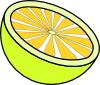 Cut Lemon Clip Art