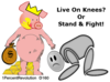 160 Live On Knees?  Clip Art