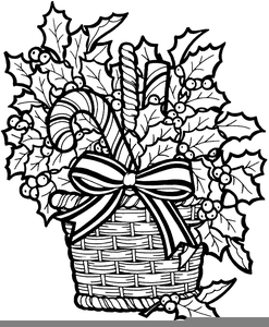 Black And Whitechristmas Clipart Image