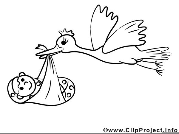 Clipart Storch Mit Baby Kostenlos Free Images At Clkercom